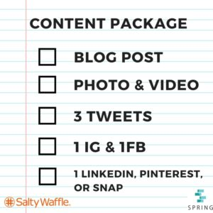 how to package your content, how to do a social media post, where should I post on social media, content package