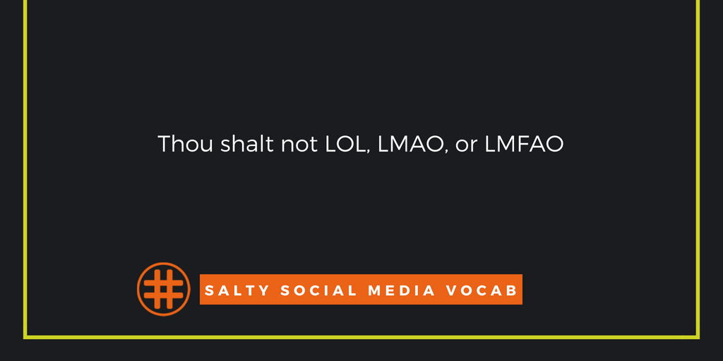 Salty Social Media Vocabulary: 'Thou Shalt Not' Edition
