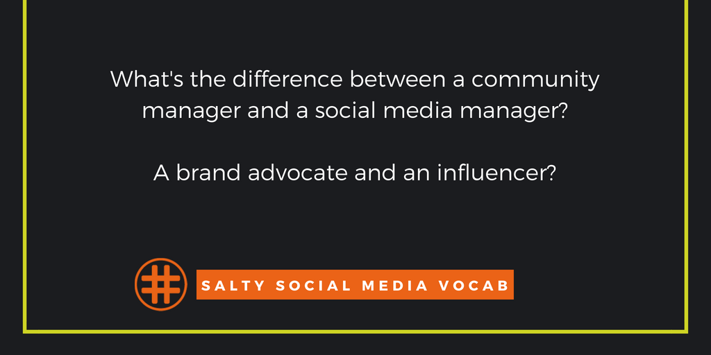 Salty Social Media Vocabulary: the, uh, Social Media Vocabulary Edition
