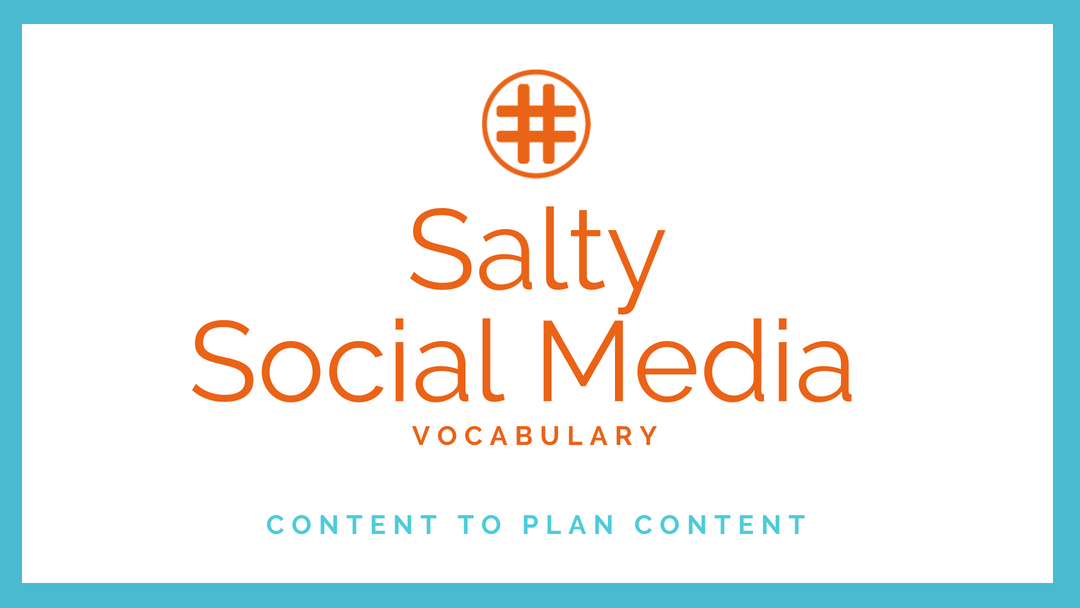 Salty Social Media Vocabulary: Content to Plan Content